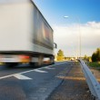 Fast moving truck — Stock Photo #4804146