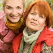 Royalty-Free Stock Photo: Mother and daughter close-up portrait