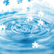 Water splash with puzzle effect — Stock Photo #4804165