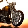 Motocycle on abstract background - Stockfoto