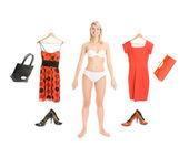 Dress up the girl item set isolated on white background — Stock Photo
