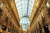 Famous shopping center Vittorio Emanuele II Shopping Gallery (Mi — Stock Photo