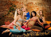 Group of beautiful women in harem — Stock Photo