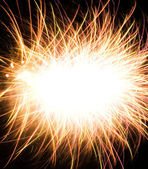 Abstract photo of fireworks with free space in the middle — Foto Stock