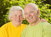 Senior couple in love outdoors — Stock Photo