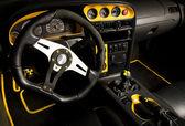 Tuned sport car interior — Stock Photo