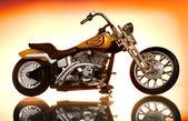 La motocicleta sobre fondo abstracto — Foto de Stock