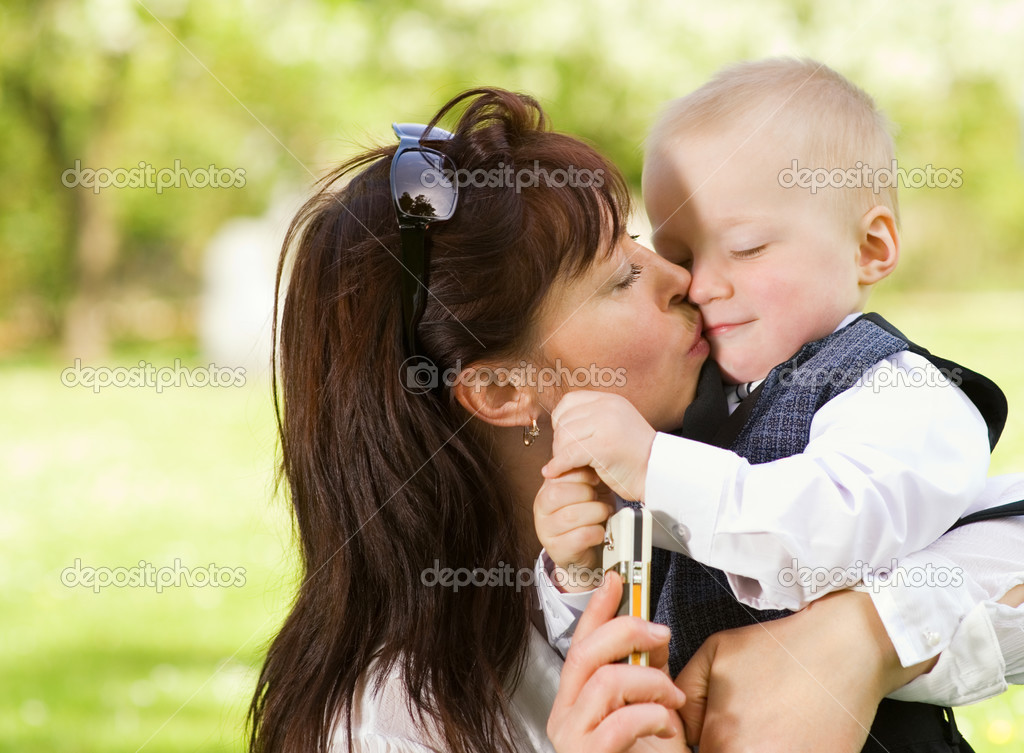 Mother with her child outdoors  Stock Photo #4803861