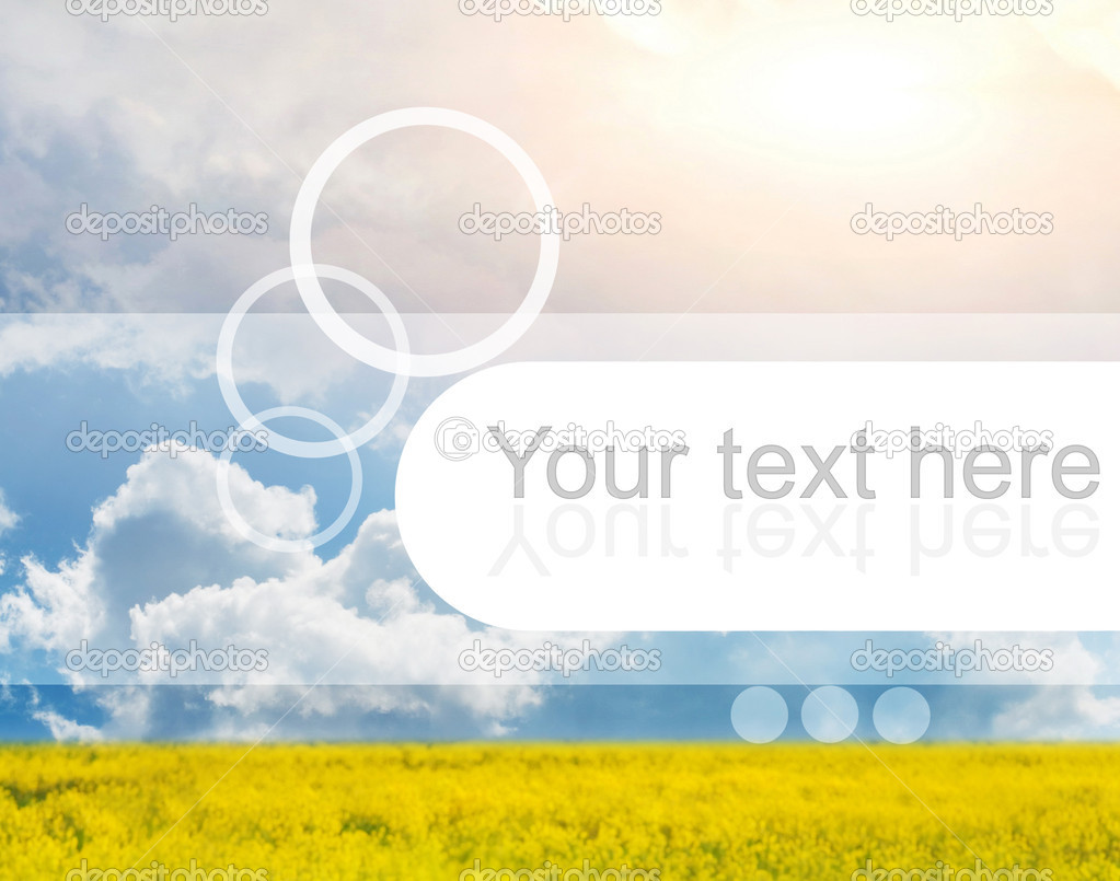 Beautiful scenic with simple graphic design on it. Perfect place to put text on — Stock Photo #4803976