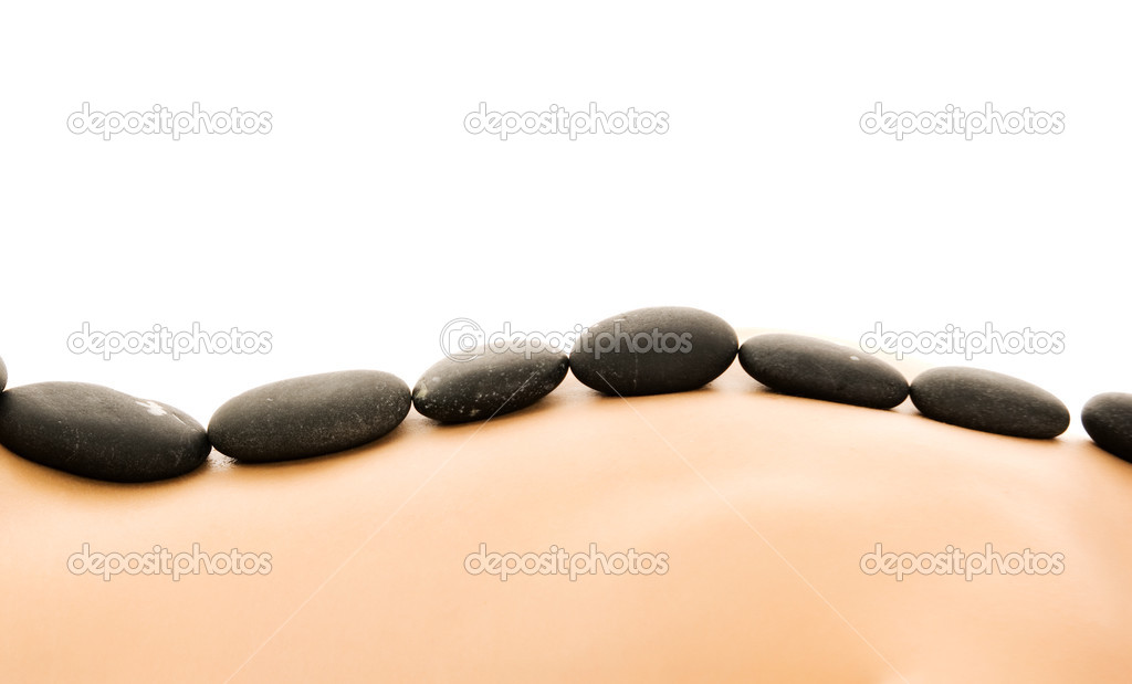 Massage with hot stones  Stock Photo #4804132