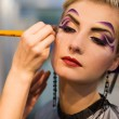 Make-up artist at work — Stock Photo #4839866