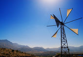 Old broken windmill (Crete, Greece) — Stock Photo