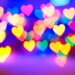 Royalty-Free Stock Photo: Abstract blurred background (natural heart shaped bokeh)