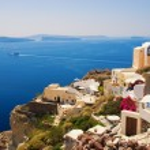 Beautiful landscape view (Santorini Island, Greece) — Stock Photo