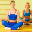 Beautiful women meditating — Stockfoto #4903074