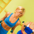 Beautiful women exercising in fitness club - Foto de Stock