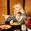 Girl in a restaurant — Stock Photo #4903280