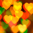 Abstract blurred background (natural heart shaped bokeh) — Stock Photo