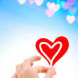 Hand with a heart — Stock Photo