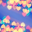 Abstract blurred background (natural heart shaped bokeh) — Stock Photo #4903429