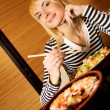 Girl in a restaurant — Stock Photo