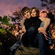 Young coule in love at sunset time — Stock Photo