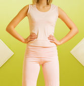 Young woman ready for fitness exercise — Stock Photo