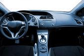 Interior de carro esporte moderno em tons de azul — Fotografia Stock