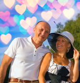 Middle-aged couple in love — Stock Photo