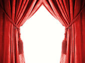 Luxury curtain with a copy-space in the middle — Stock Photo