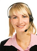 Operatore amichevole hotline — Foto Stock