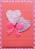 Handmade Valentine card — Stock Photo