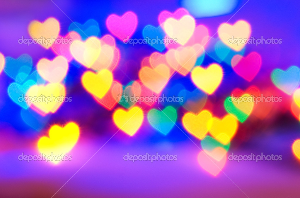 Abstract blurred background (natural heart shaped bokeh) — Stock Photo #4902957