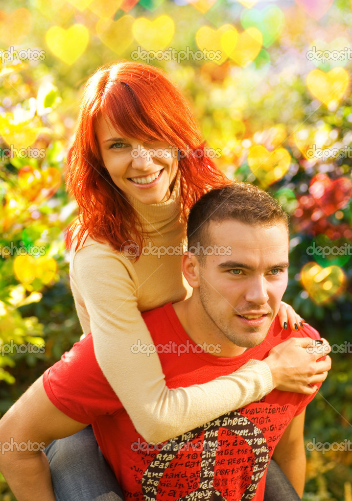 Beautiful young couple in love — Stock Photo #4903410