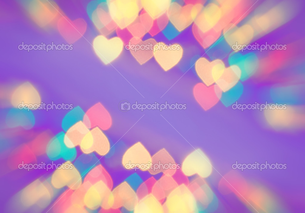 Abstract blurred background (natural heart shaped bokeh) — Stock Photo #4903442