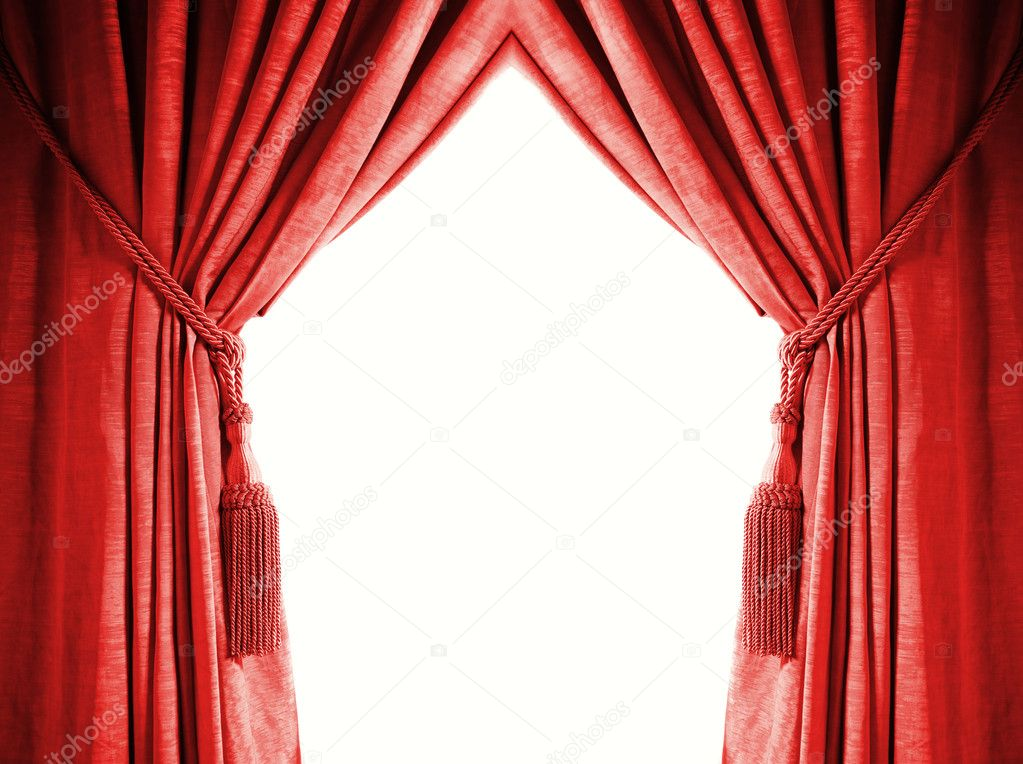 Luxury curtain with a copy-space in the middle — Stock Photo #4903457