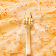 Royalty-Free Stock Photo: Royal luxury golden fork (shallow DoF)