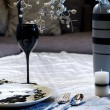 Served table for romantic dinner — Stock Photo