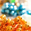 Royalty-Free Stock Photo: Abstract Christmas background (Shallow DoF, focus on decoration