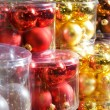 Stock Photo: Christmas decorations in a shop