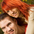 Stock Photo: Young couple in love
