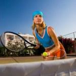 Beautiful tennis player — Stock Photo #4959481