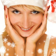 Mrs. Santa dreaming about Christmas presents — Stock Photo #4959499