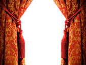 Luxury curtain with a copy-space in the middle — Foto de Stock