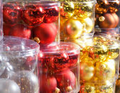 Christmas decorations in a shop — Stock Photo