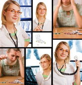 Set of pictures illustrating healthcare and medicine — Stock Photo