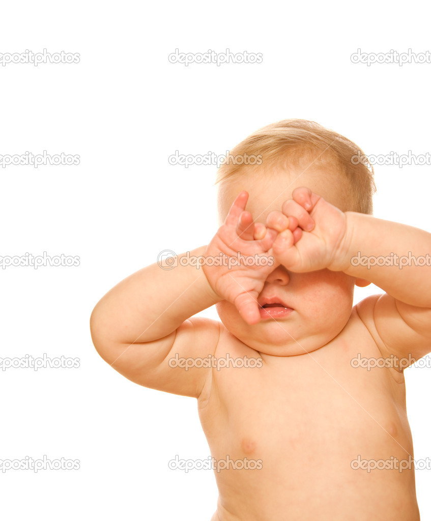 Beautiful baby bursted into tears — Stock Photo #4959192