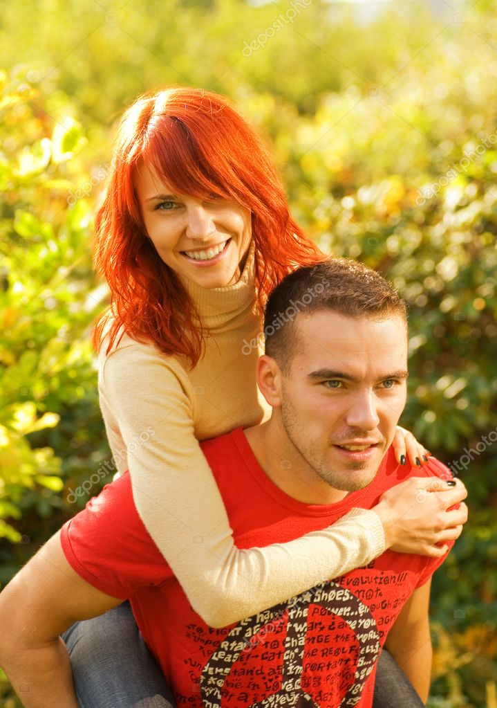 Beautiful young couple in love  Stock Photo #4959873