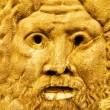 Golden sculpture of Zeus — Stock Photo