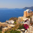 Beautiful landscape view (Santorini Island, Greece) - Stock Photo